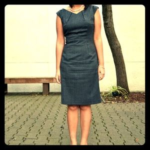 Gray Tweed Herringbone Dress by Mossimo